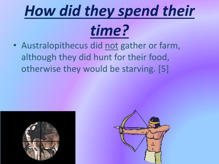 How did they spend their time?