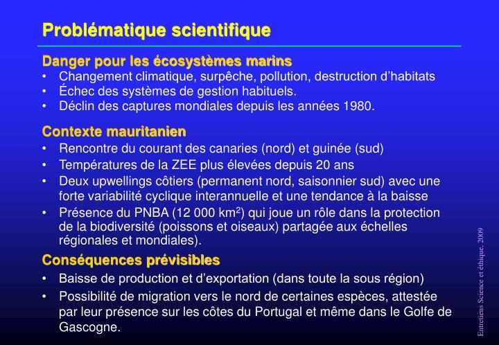 Probl matique scientifique
