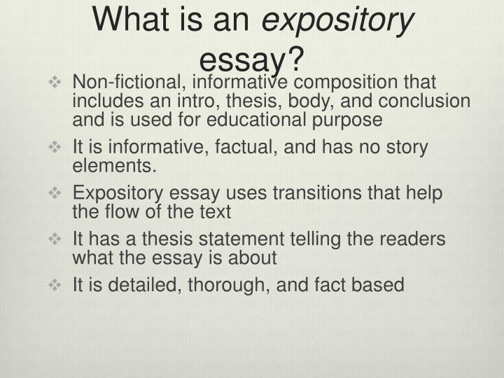 expository essay what is it