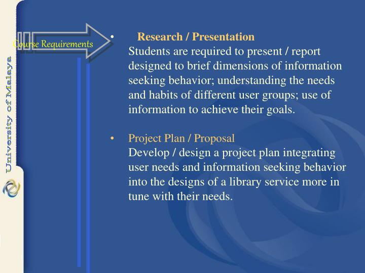 Research / Presentation