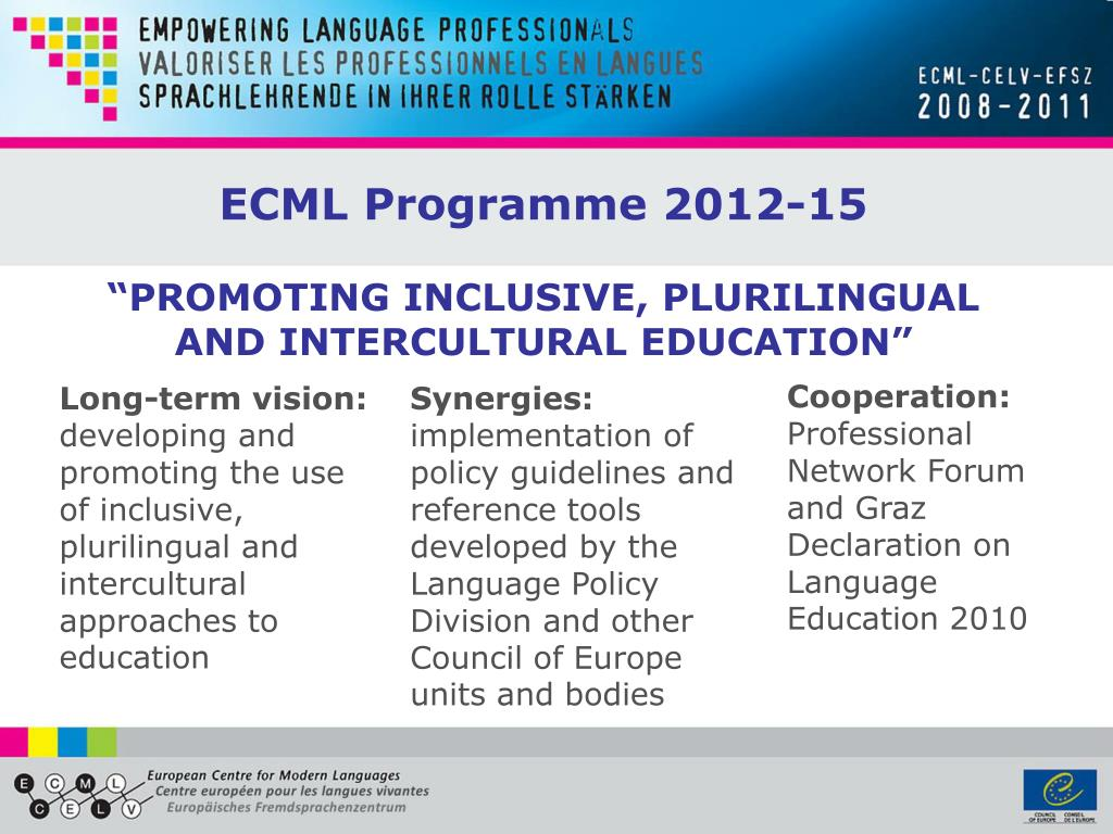 """PROMOTING INCLUSIVE, PLURILINGUAL AND INTERCULTURAL EDUCATION"""