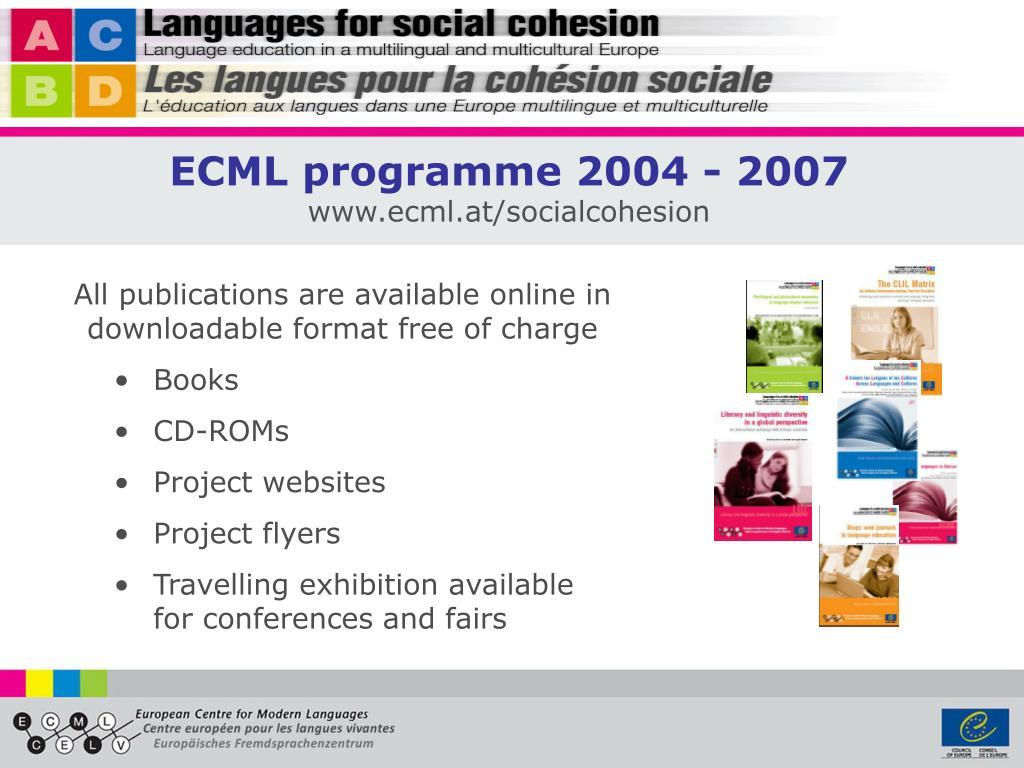 ECML programme 2004 - 2007