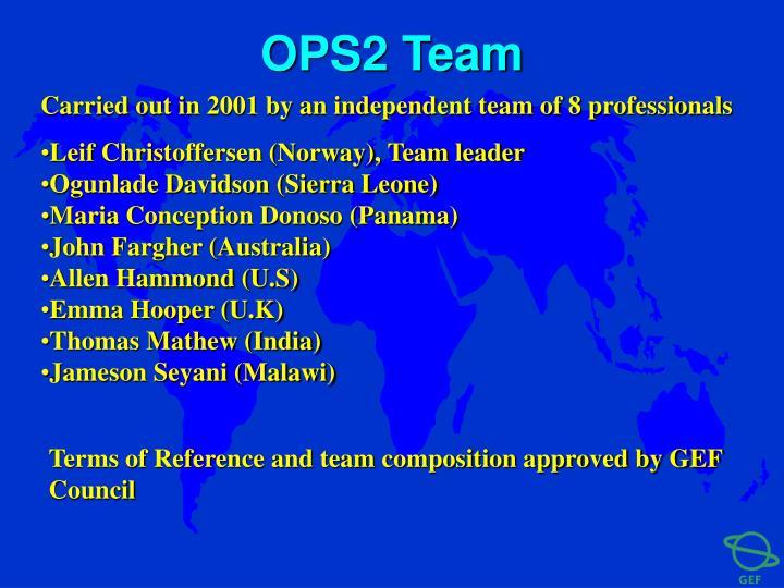 OPS2 Team