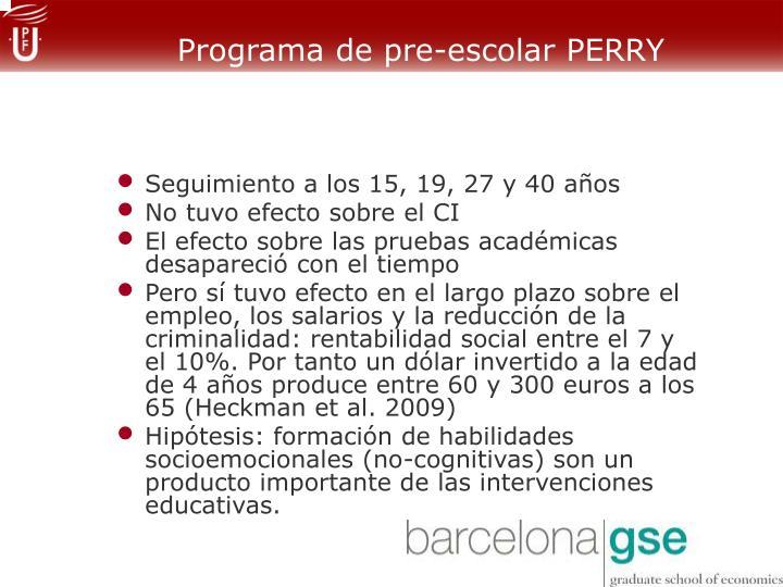 Programa de pre-escolar PERRY