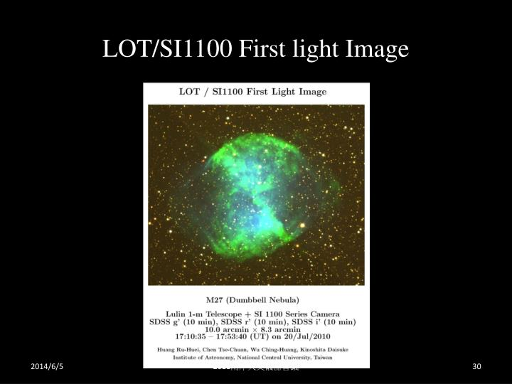 LOT/SI1100 First light Image