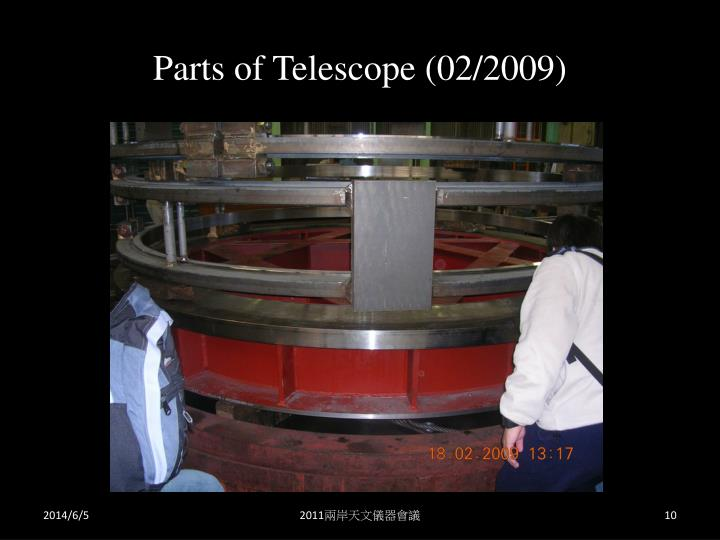 Parts of Telescope (02/2009)