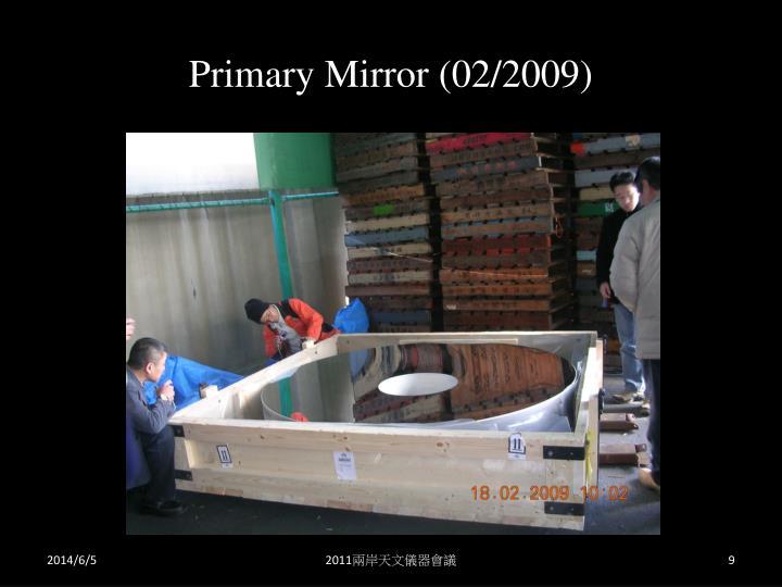 Primary Mirror (02/2009)