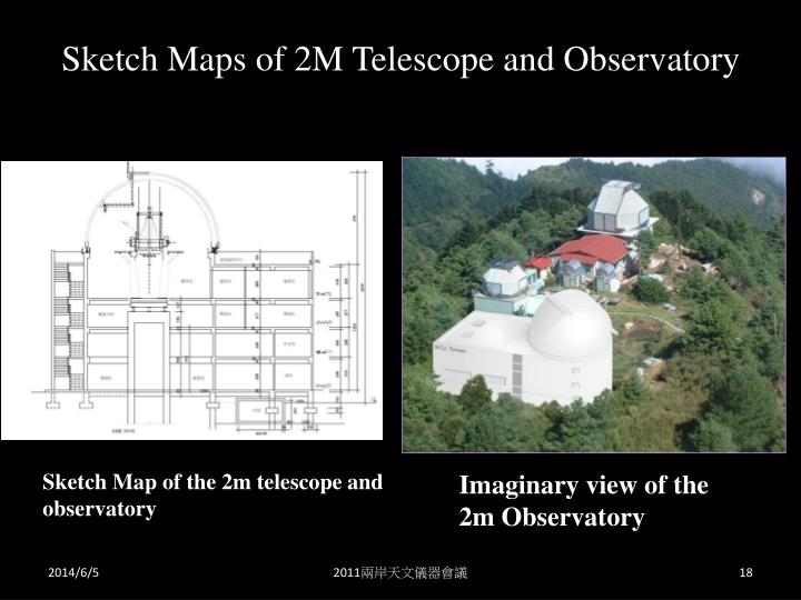 Sketch Maps of 2M Telescope and Observatory