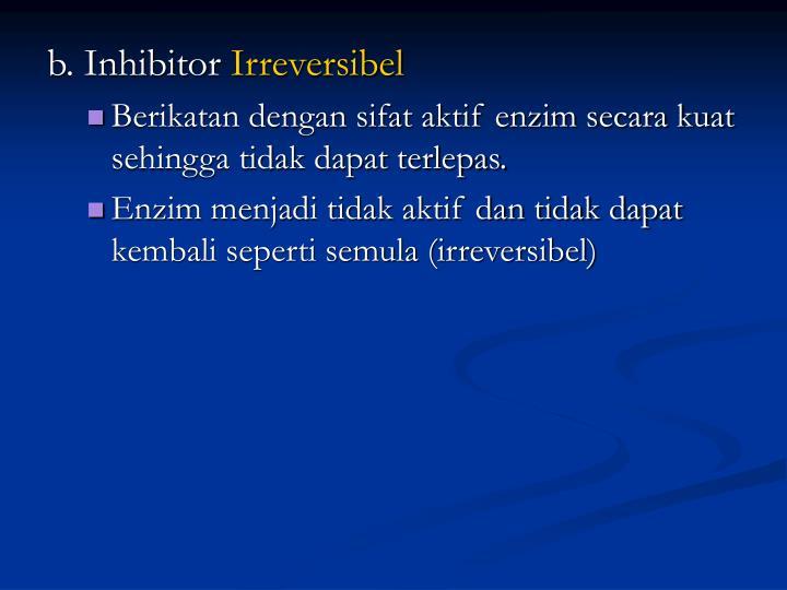 b. Inhibitor