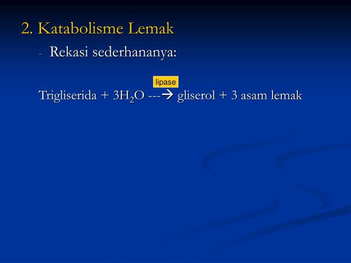 2. Katabolisme Lemak