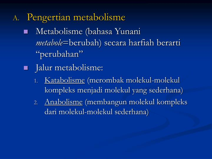 Pengertian metabolisme