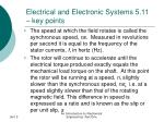 electrical and electronic systems 5 11 key points