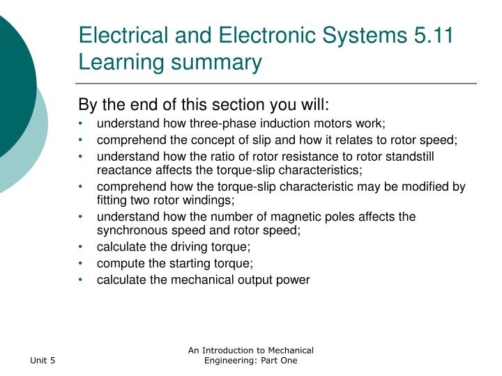 Electrical and Electronic Systems 5.11