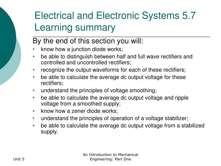 Electrical and Electronic Systems 5.7