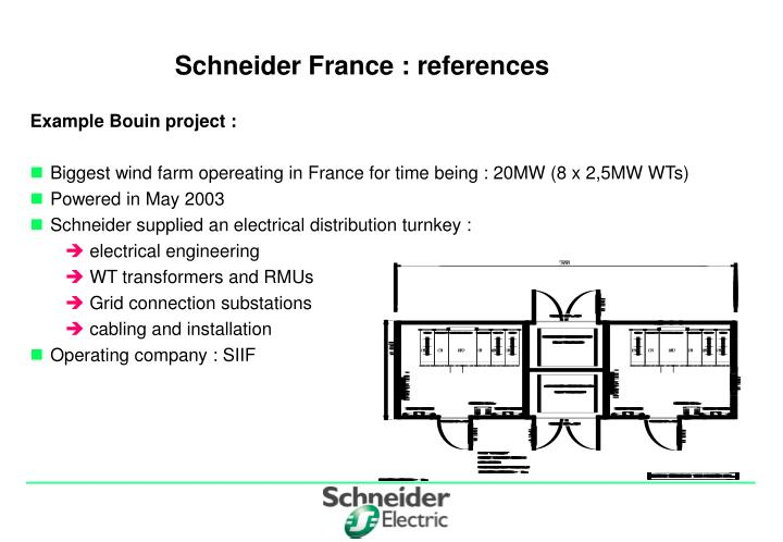 Schneider France : references
