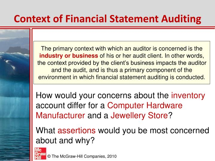 Context of Financial Statement Auditing