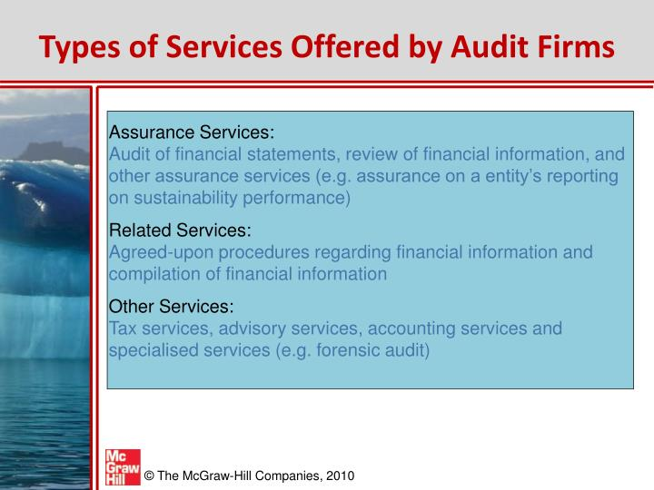 Types of Services Offered by Audit Firms