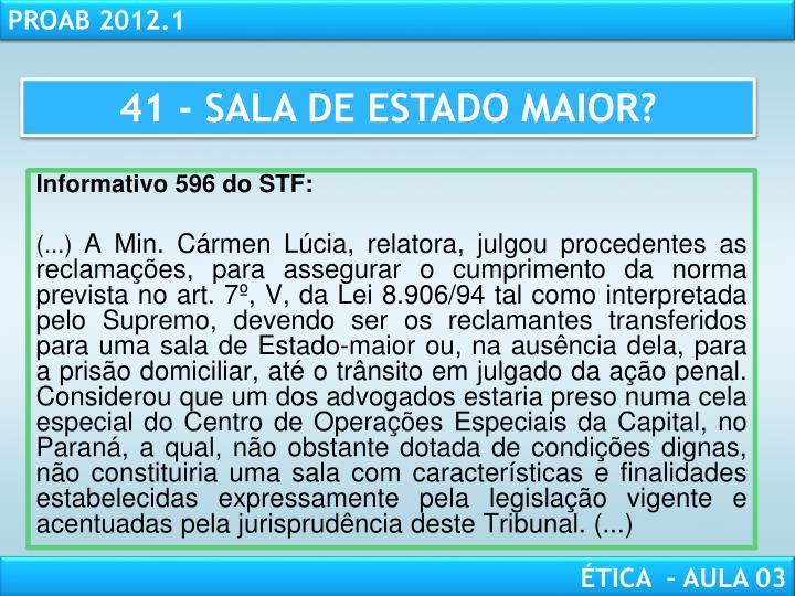 41 - SALA DE ESTADO MAIOR?