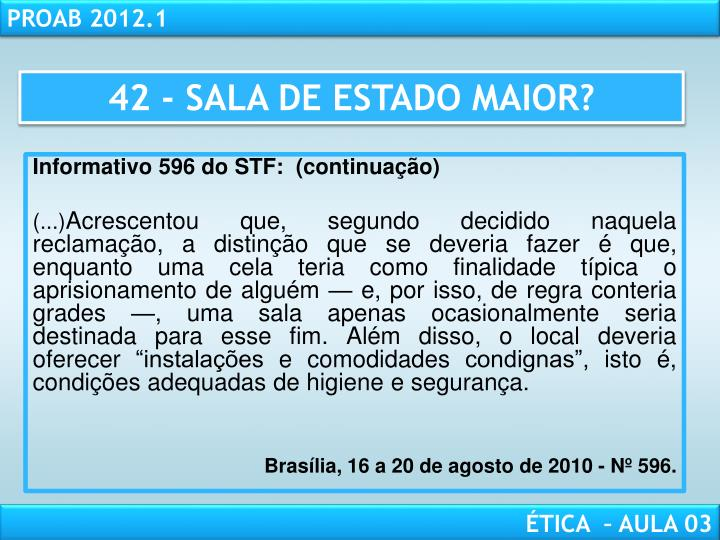 42 - SALA DE ESTADO MAIOR?
