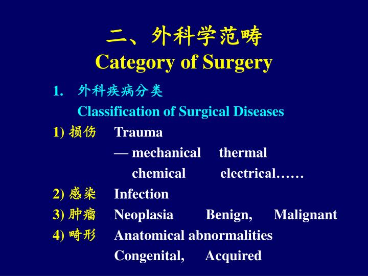 二、外科学范畴
