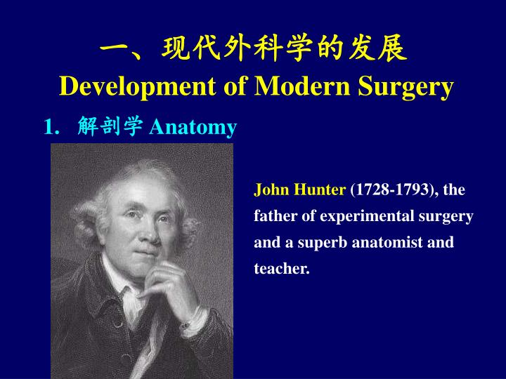 Development of modern surgery