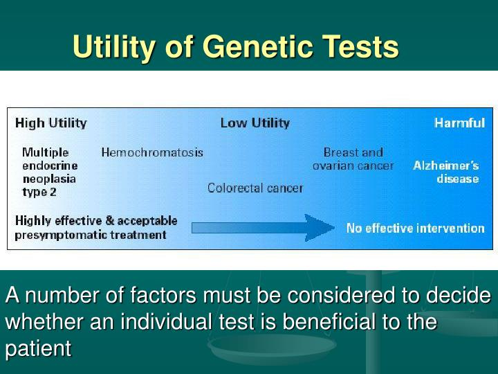 Utility of Genetic Tests