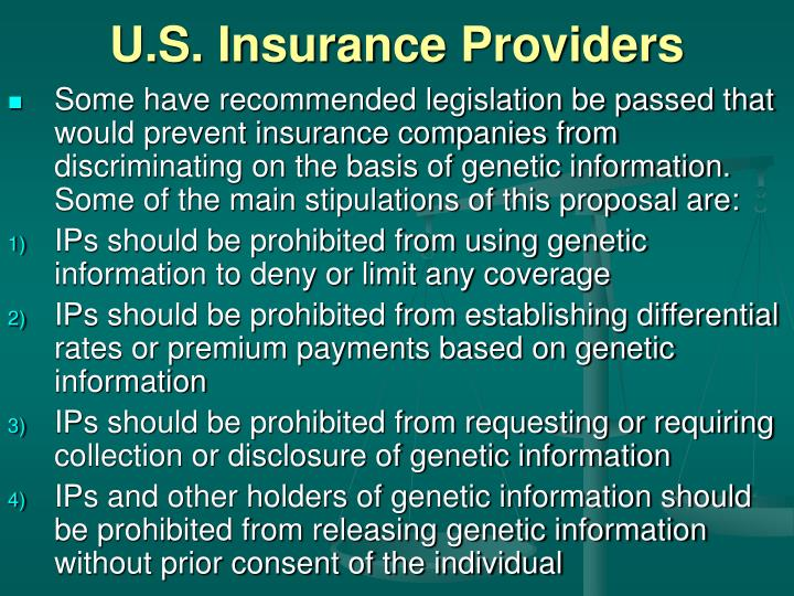 U.S. Insurance Providers