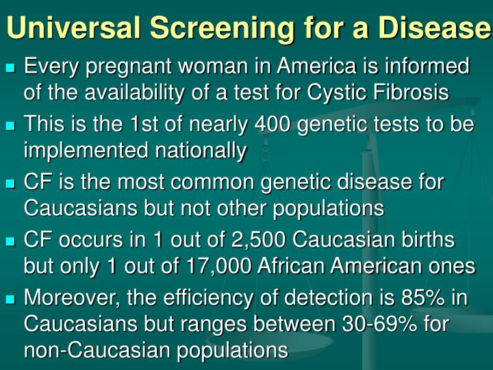 Universal Screening for a Disease