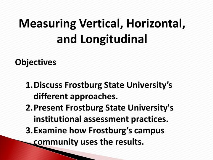 Measuring Vertical, Horizontal, and Longitudinal