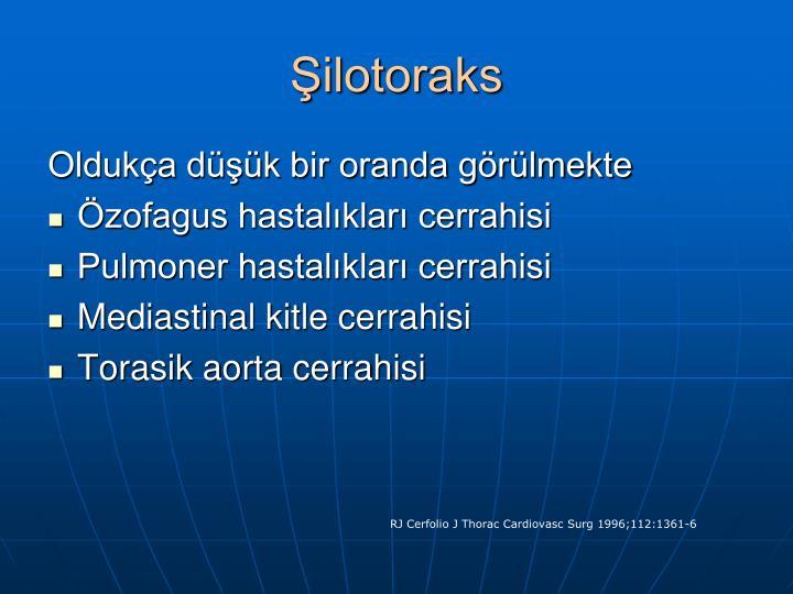 Şilotoraks