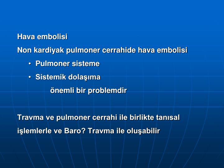 Hava embolisi