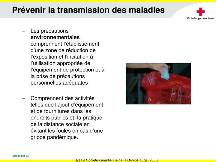 Prévenir la transmission des maladies