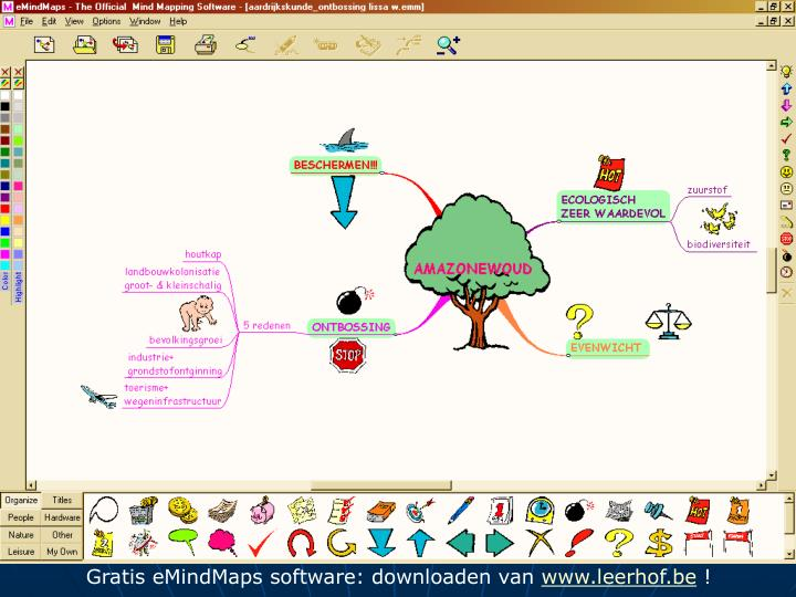 Gratis eMindMaps software: downloaden van