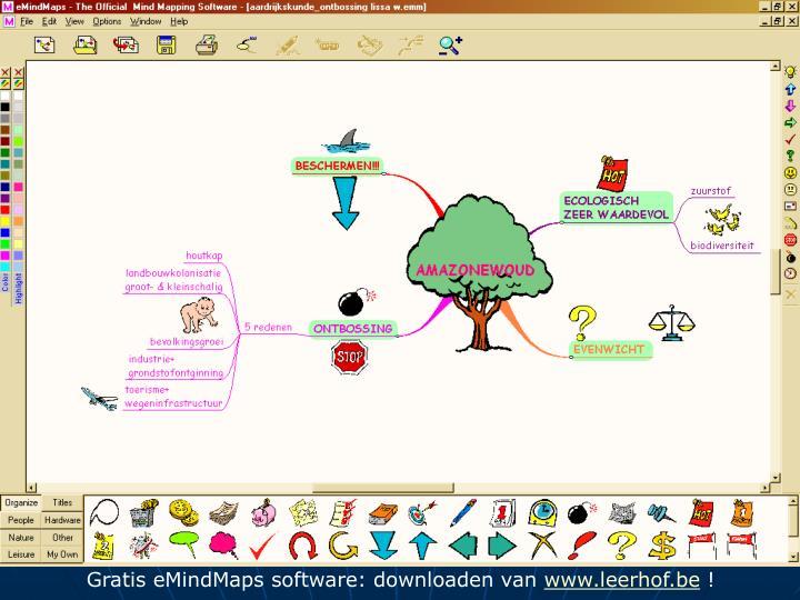 Gratis eMindMaps software: downloaden van