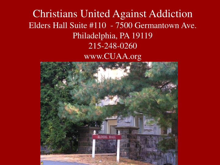 Christians United Against Addiction