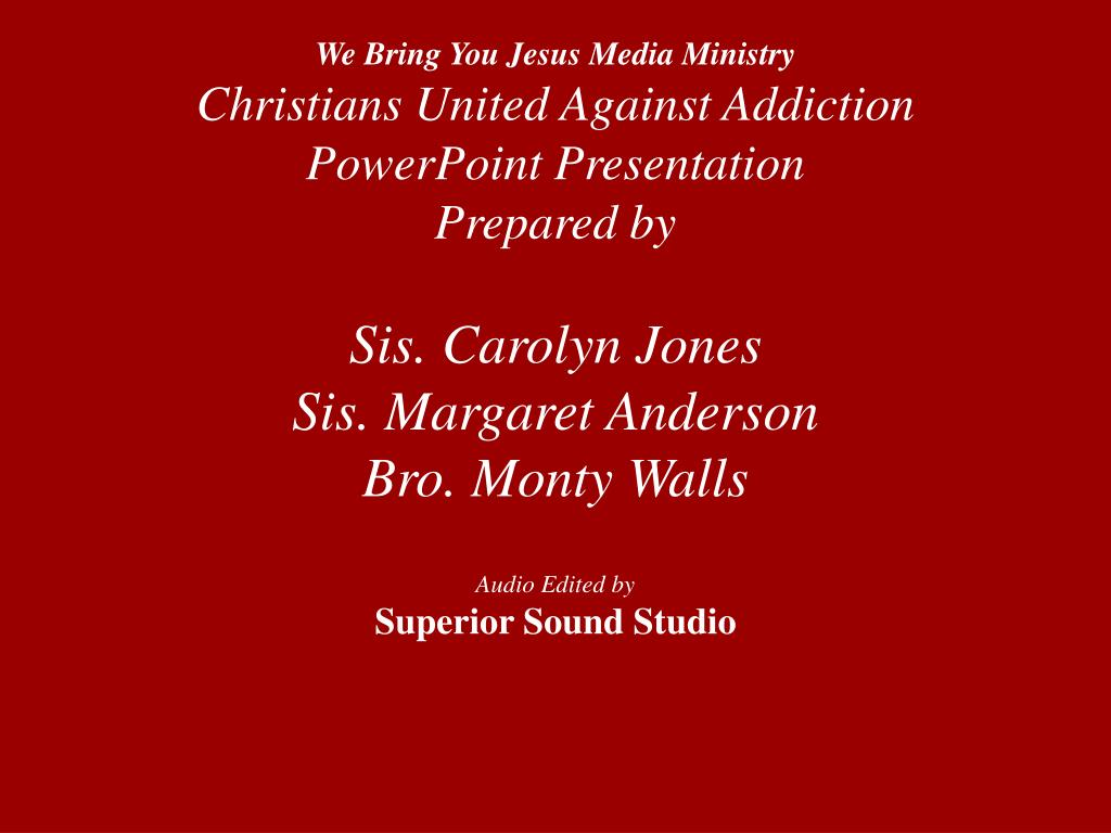 We Bring You Jesus Media Ministry