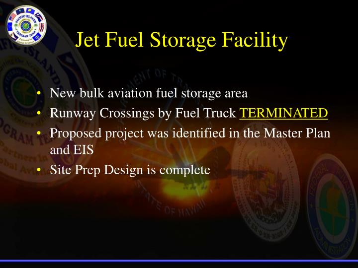 Jet Fuel Storage Facility