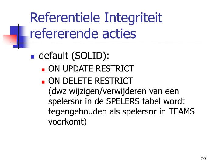 Referentiele Integriteit