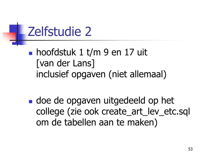 Zelfstudie 2