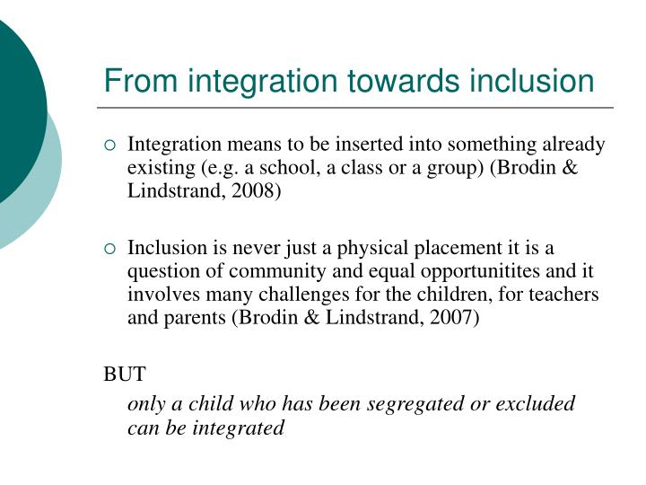 From integration towards inclusion