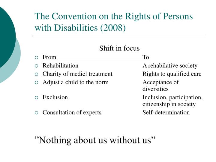 The Convention on the Rights of Persons with Disabilities (2008)