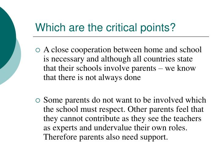 Which are the critical points?