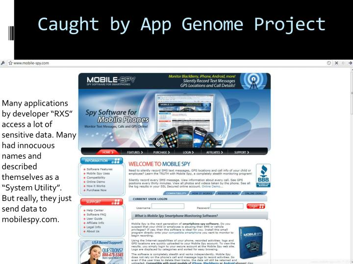 Caught by App Genome Project