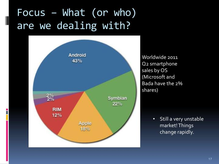 Focus – What (or who)