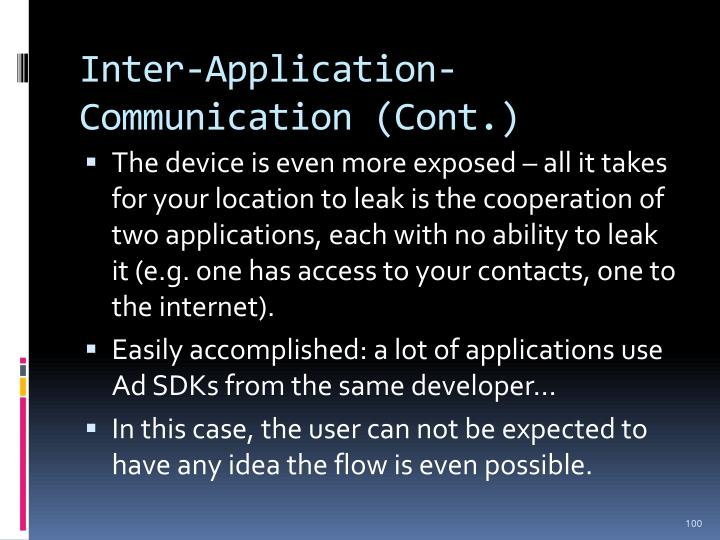 Inter-Application-Communication (Cont.)