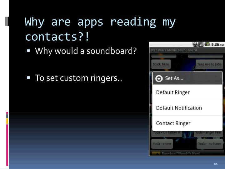 Why are apps reading my contacts?!