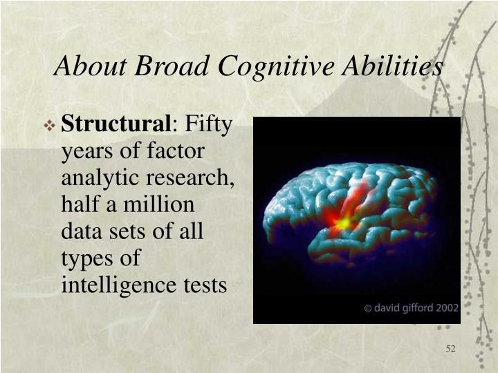 About Broad Cognitive Abilities