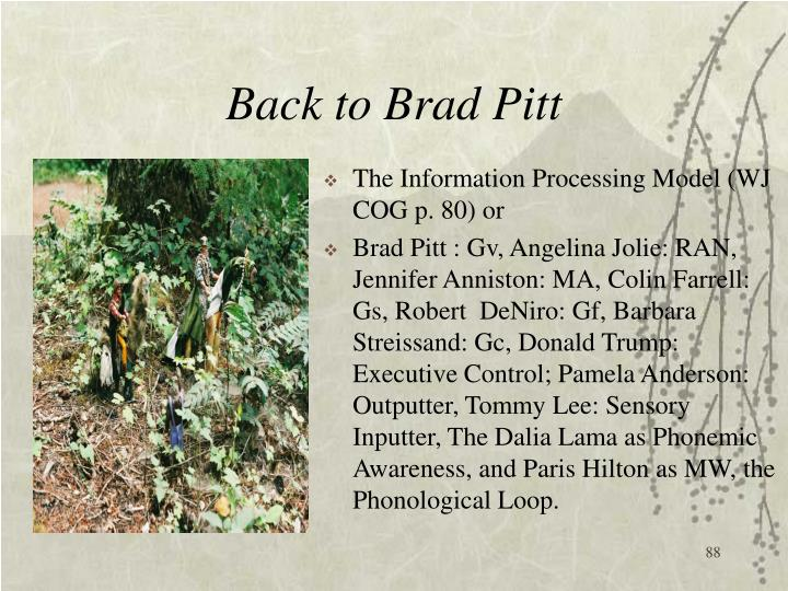 Back to Brad Pitt