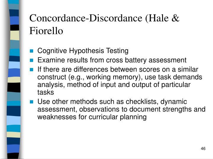 Concordance-Discordance (Hale & Fiorello