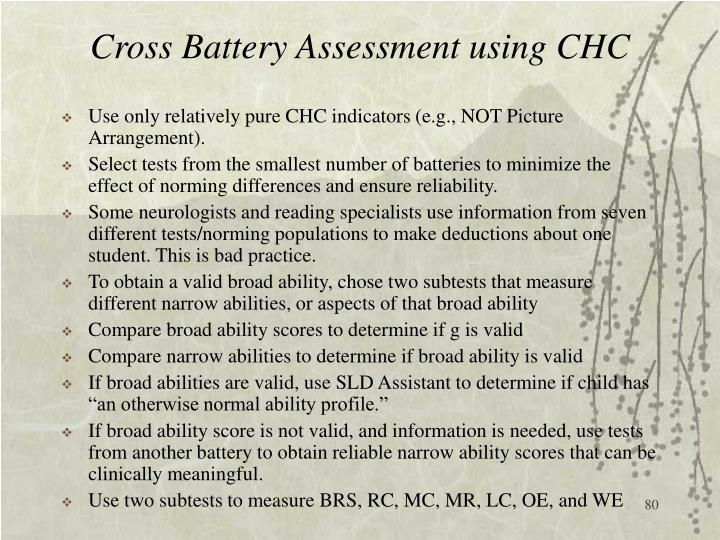 Cross Battery Assessment using CHC